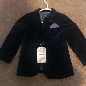 Zara toddler boy velvet blazer